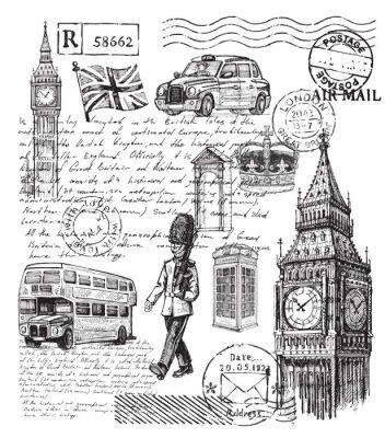 Tapeta Ilustracja z Wielkiej Brytanii