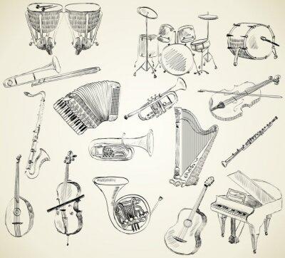 Tapeta instrumenty muzyczne