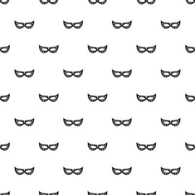 Tapeta Italian carnival mask pattern seamless vector repeat geometric for any web design