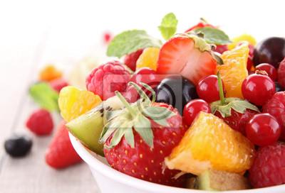 Tapeta izolowane sałatka owocowa