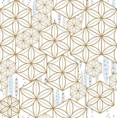 Tapeta Japoński wzór wektor. Geometryczny szablonu tło.