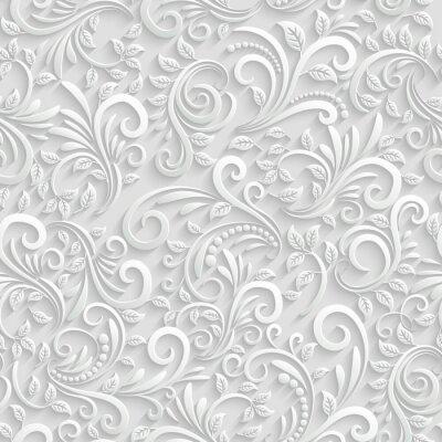 Tapeta Jednolite tło kwiatowy 3d