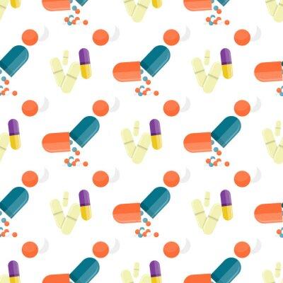 Tapeta Jednolite Wzór Leki Medyczne, Pigułki, Kapsułki
