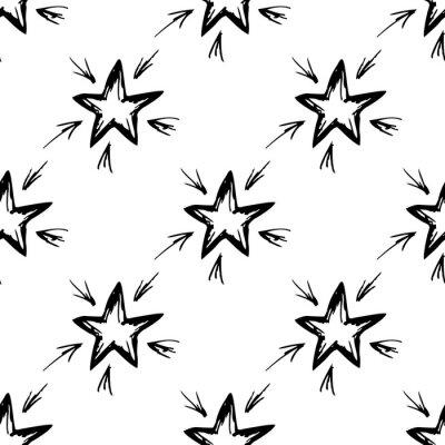 Jednolite wzór narysowany ręcznie gwiazdki