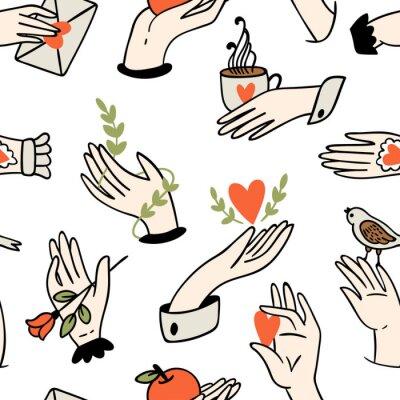 Tapeta Jednolite wzór ręce.