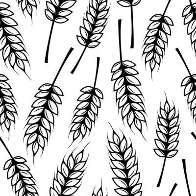 Tapeta Jednolite wzór z kłosy pszenicy
