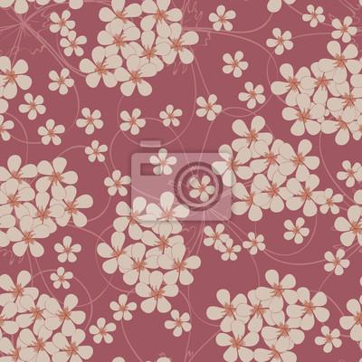 Tapeta Jednolite wzór z małych kwiatów. Floral tekstylne