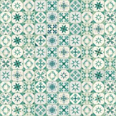 Tapeta Jednolite wzór z płytek hydraulicznych, typowe dla Hiszpanii, Włoch i Portugalii. Orientalny styl.