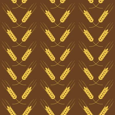 Tapeta Jednolite wzór z pszenicy