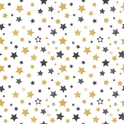 Jednolite wzór z ręcznie rysowane gwiazd. stylowe tło