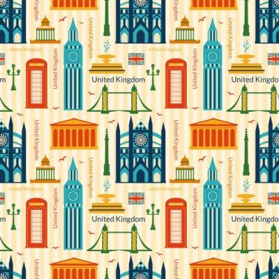 Tapeta Jednolite wzór z zabytków Wielkiej Brytanii