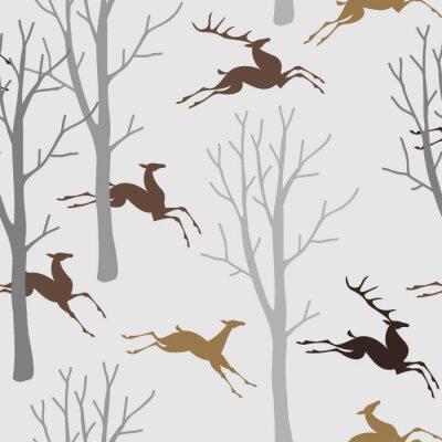 Tapeta Jelenie w lesie