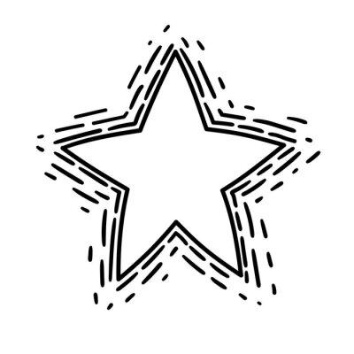Jest to ilustracja poprowadzoną gwiazdy