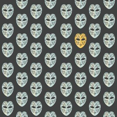 Tapeta Karnawałowe maski bezszwowe wzór