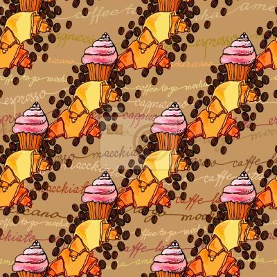 Tapeta Kawa I Cupcake