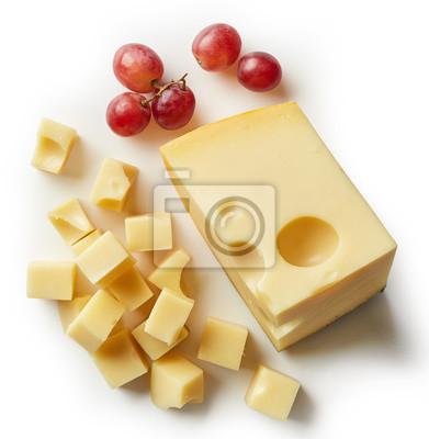 Kawałek i kostki ser szwajcarski