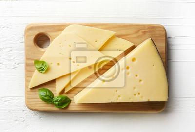 Kawałek i plasterki sera