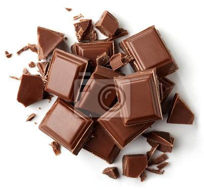 Kawałki czekolady mlecznej