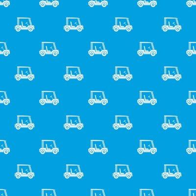 Tapeta Kij golfowy pojazdu wzór bez szwu niebieski