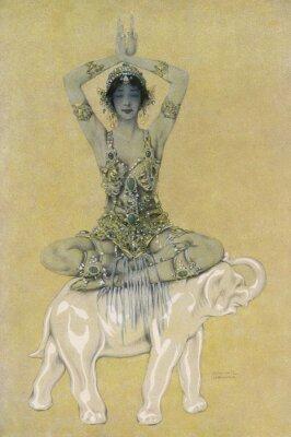 Kobieta Typ - Niebieski Idol. Data: 1913 r