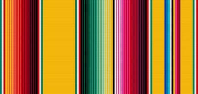 Tapeta Koc paski bezszwowe wektor wzór. Tło dla wystroju imprezowego Cinco de Mayo lub etnicznego meksykańskiego wzoru tkaniny w kolorowe paski. Serape gesign
