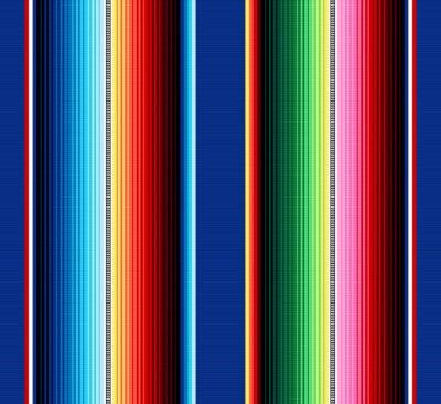 Tapeta Koc paski bezszwowe wektor wzór. Tło do dekoracji imprezowej Cinco de Mayo lub meksykańskiej tkaniny w kolorowe paski. Serape gesign