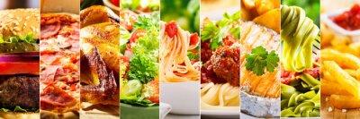 Tapeta kolaż z produktów spożywczych