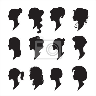 Kolekcja Damskich Profili Różne Fryzury Tapety Redro