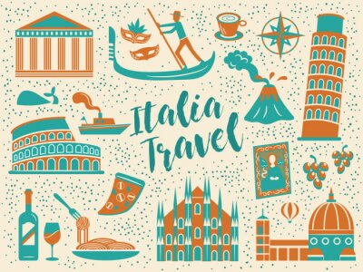Tapeta Kolekcje podróży Włoch