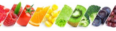 Tapeta Kolor owoców, jagód i warzyw