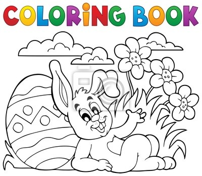 Tapeta Kolorowanka Wielkanoc Królik Temat 2 Sztuka Tradycyjny
