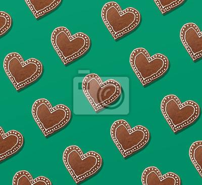 Kolorowe Boże Narodzenie wzór pierniki ciasteczka