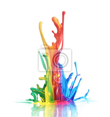 Tapeta Kolorowe farby rozpryskiwania