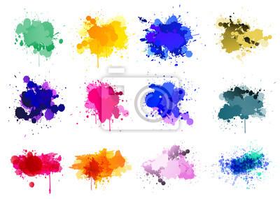 Tapeta Kolorowe farby rozpryskuje