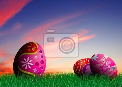 Kolorowe jaja wielkanocne ilustracji