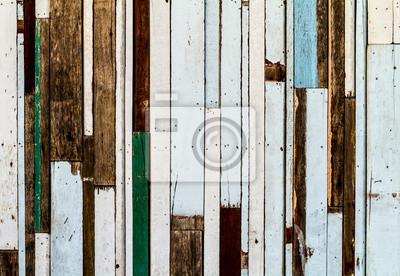 Tapeta Kolorowe paski wzór tekstury drewna