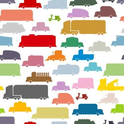 Tapeta Kolorowe samochody szwu. Piękne tekstury z ziemi trans
