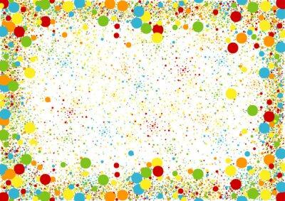 Tapeta Kolorowy Kropkowany tło - Wakacyjna Abstrakcjonistyczna ilustracja, wektor
