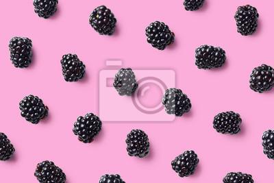 Tapeta Kolorowy owocowy wzór jeżyny