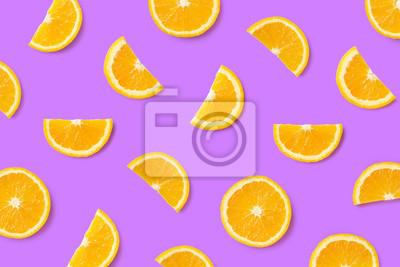 Kolorowy owocowy wzór pomarańczowi plasterki