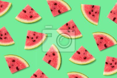 Kolorowy wzór owoców z kawałkami arbuza