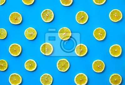 Tapeta Kolorowy wzór plasterki cytryny