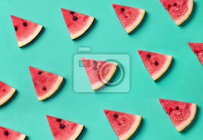Kolorowy wzór plasterków arbuza