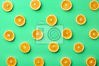 Kolorowy wzór plastry pomarańczy