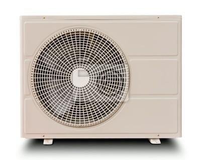Tapeta Kompresor powietrza wyizolowanych biały