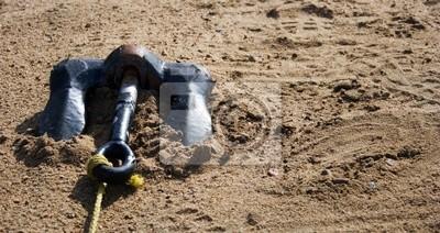 Tapeta kotwica na piasku