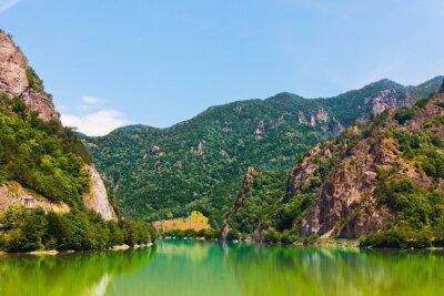 Tapeta Krajobraz z góry z Olt Valley w Rumunii