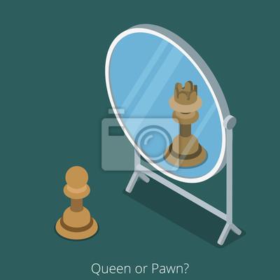 Tapeta Królowa Pożyczki Lub Koncepcji Pożyczki Postać Szachy