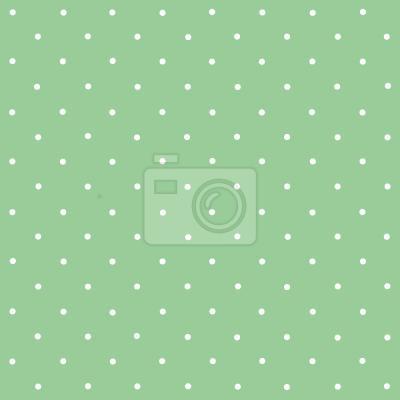 Tapeta Kropki na zielonym