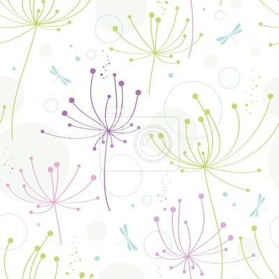 Tapeta Kwiat I Ważka